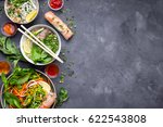 assorted asian dinner with... | Shutterstock . vector #622543808