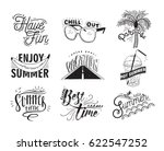 vector set of hand drawn... | Shutterstock .eps vector #622547252