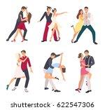 people dancing salsa. couples ... | Shutterstock .eps vector #622547306