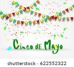 cinco de mayo lettering on... | Shutterstock .eps vector #622552322