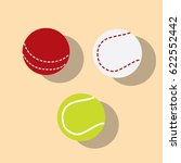 tennis  cricket and baseball... | Shutterstock .eps vector #622552442
