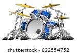 5 piece drum set musical... | Shutterstock .eps vector #622554752