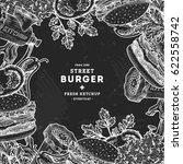 fast food chalkboard design... | Shutterstock .eps vector #622558742