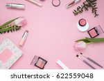 Cosmetic Pink Frame With...