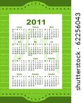 calendar 2011 | Shutterstock .eps vector #62256043