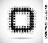 square textured shape. halftone ... | Shutterstock .eps vector #622561535