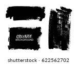 vector black paint  ink brush... | Shutterstock .eps vector #622562702