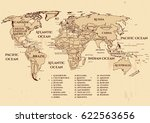 vector world political map with ... | Shutterstock .eps vector #622563656