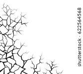 earth cracks or stone on white... | Shutterstock .eps vector #622564568