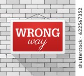 simple red sign with text ... | Shutterstock .eps vector #622567352