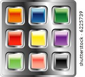 vector square glossy buttons on ... | Shutterstock .eps vector #6225739