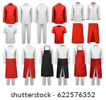 big set of culinary clothing ... | Shutterstock .eps vector #622576352