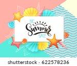 vector hand lettering summer... | Shutterstock .eps vector #622578236