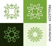 abstract monogram elegant logo... | Shutterstock .eps vector #622579586