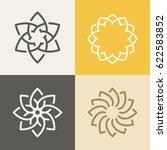 abstract monogram elegant logo... | Shutterstock .eps vector #622583852