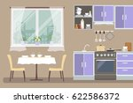 kitchen interior. there is a... | Shutterstock . vector #622586372