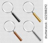 magnifying glass set gradient... | Shutterstock .eps vector #622588292