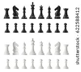 transparent set of icons chess  ...   Shutterstock . vector #622588412
