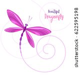 Stock vector vector llustrace dragonfly on a white background brightly colored dragonflies in flight 622595198