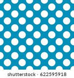vector blue polka dot pattern | Shutterstock .eps vector #622595918