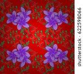 exquisite pattern with plumeria ... | Shutterstock .eps vector #622598066