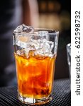 fresh cocktail with orange... | Shutterstock . vector #622598732
