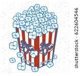 popcorn graphic | Shutterstock .eps vector #622604546
