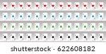 playing cards deck poker set | Shutterstock .eps vector #622608182