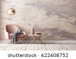 interior with armchair and a... | Shutterstock . vector #622608752
