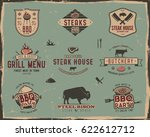 vintage grill and steak house... | Shutterstock .eps vector #622612712