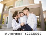 asian family happy with child... | Shutterstock . vector #622620092