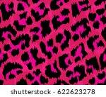 leopard pattern  vector ... | Shutterstock .eps vector #622623278
