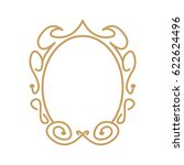 vintage oval frame | Shutterstock .eps vector #622624496