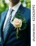 boutonniere for the groom ... | Shutterstock . vector #622626992