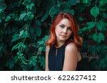 closeup portrait of pensive... | Shutterstock . vector #622627412