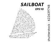 a sailboat consists of points ... | Shutterstock .eps vector #622639748