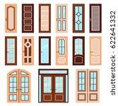 vector doors design set. modern ... | Shutterstock .eps vector #622641332