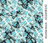 grunge seamless pattern with... | Shutterstock .eps vector #622648142