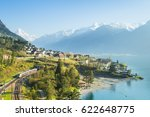 View Of The Small Town In The...