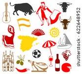 spain icons set. spanish... | Shutterstock .eps vector #622648952
