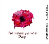 remembrance day.  bright poppy. ... | Shutterstock .eps vector #622651862