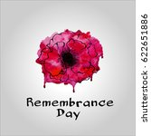 remembrance day. poppy icon.... | Shutterstock .eps vector #622651886