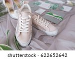 bridal wedding shoes and... | Shutterstock . vector #622652642
