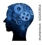 male head with gear. male head... | Shutterstock . vector #622652816