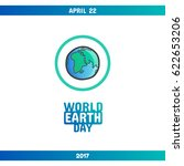 international earth day  april...   Shutterstock .eps vector #622653206