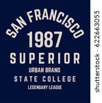 college san francisco... | Shutterstock .eps vector #622663055