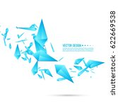 abstract background with... | Shutterstock .eps vector #622669538