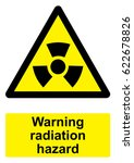 black and yellow warning sign... | Shutterstock . vector #622678826