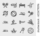 activity icon. set of 16... | Shutterstock .eps vector #622679096