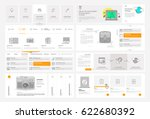 website template elements with... | Shutterstock .eps vector #622680392